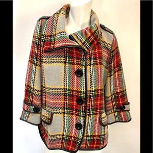 For Cynthia adorable multicolored plaid cozy wool